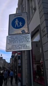 Maastricht Pedestrian Zone Signage